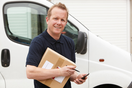 Courier Delivering Package Requiring Signature